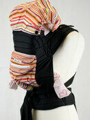 Palm and Pond Mei Tei with Hood & Pocket - Multicoloured Stripes additional 1