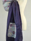Purple Paisley Baby Ring Sling additional 1