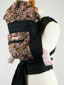 Brown and White Floral Mei Tai Baby Sling With Hood and Pocket additional 1