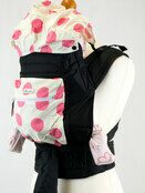 Pink Spots Mei Tai Baby Sling With Hood and Pocket additional 1