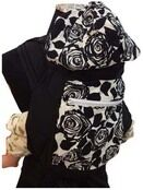 Mei Tai With Hood And Pocket - Black Floral additional 1