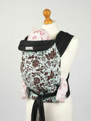 Palm & Pond Mei Tai Baby Sling - Turquoise with Roses Design additional 1