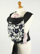 Palm & Pond Baby Mei Tai Sling - Midnight Blue Flowers on White Background additional 1