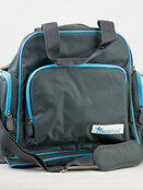 Palm and Pond Changing Back Pack Grey with Blue Trim additional 1