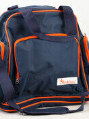 Palm and Pond Changing Back Pack Navy with Orange Trim additional 1
