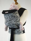 Palm & Pond Mei Tai Baby Carrier - White Floral Vintage additional 1