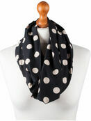 Palm and Pond Nursing Scarf - Black with Cream Spots additional 1