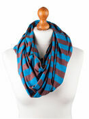 Palm and Pond Nursing Scarf - Blue/Brown Stripe additional 1