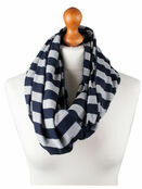 Palm and Pond Nursing Scarf - Blue/grey stripe additional 1