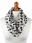 Palm and Pond Nursing Scarf - Cream with Black Spots additional 1
