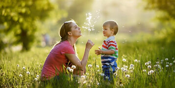 With,Mommy,And,Dandelions