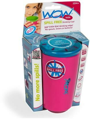 Wow Kids Spill Free Toddler Cup - Pink