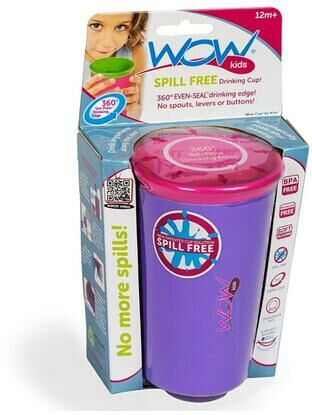 Wow Kids Spill Free Toddler Cup - Purple