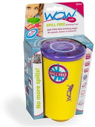 Wow Kids spill free toddler Cup - Yellow