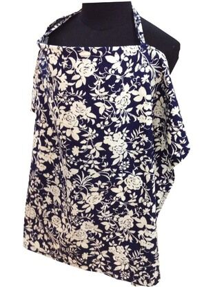Palm & Pond Large Breastfeeding Cover, Blue/White Floral