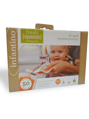 Infantino Fresh Squeezed Squeeze Pouches - 50 Pouch Pack
