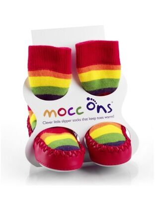 Baby/ Toddler Mocc Ons - Rainbow