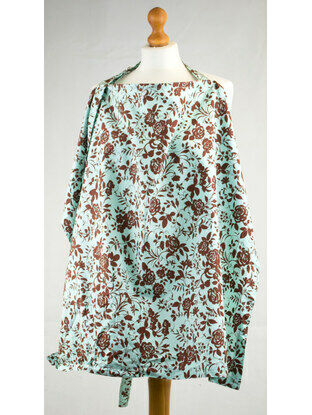 Palm and Pond Nursing Cover Extra Large Turquoise Floral