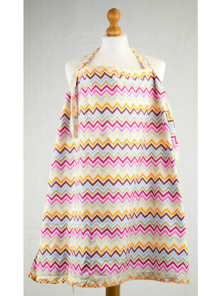Palm and Pond Nursing Cover Extra Large Pastel Zigzag