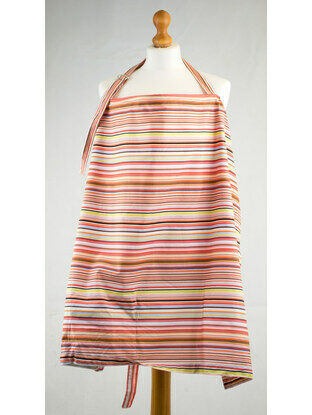 Palm and Pond Nursing Cover Extra Large Stripes