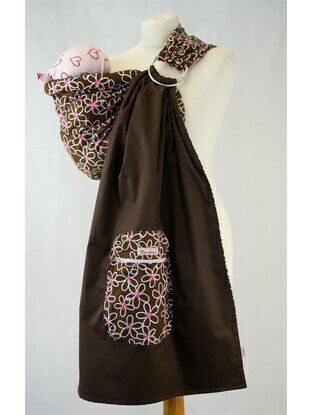 Ring Sling - Brown White Floral