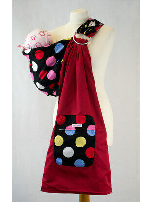 Palm and Pond Ring Sling Large Multi Spots on Black