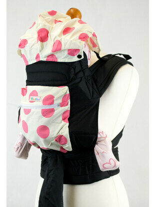 Pink Spots Mei Tai Baby Sling With Hood and Pocket
