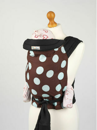 Brown/Blue Spot Soft & Strong Mei Tai Baby Sling