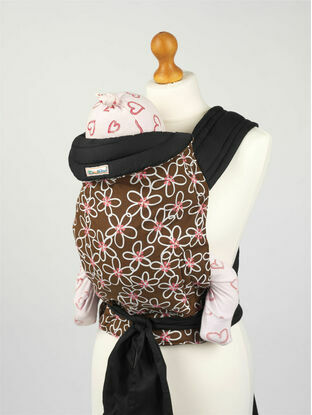 Palm and Pond Mei Tai Baby Sling - Brown & White Floral