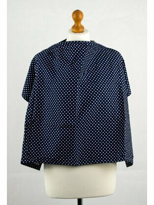 Palm & Pond Breastfeeding Cover Spotty Navy Design