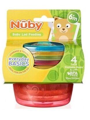 Nuby Food Pots with Lids 300ml