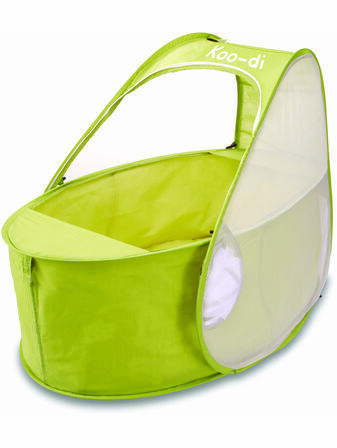 Koo-Di Pop-Up Travel Bassinette - Lemon & Lime