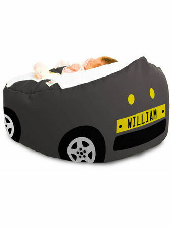 Gaga Luxury Cuddlesoft Racing Car Baby Bean Bag - Choose your favourite colour