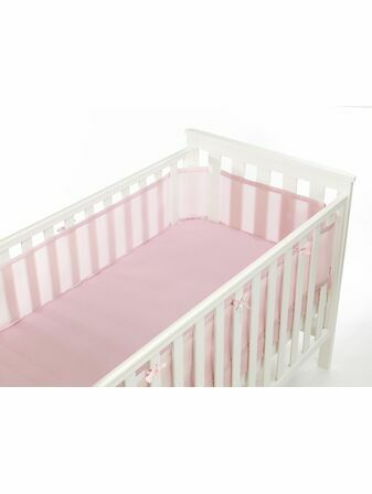 Safe Mesh Cot Liner Bumper - 4 Sided, Various Colours