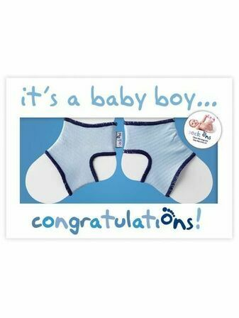 It's a Boy! Congratulations Card with Sock Ons