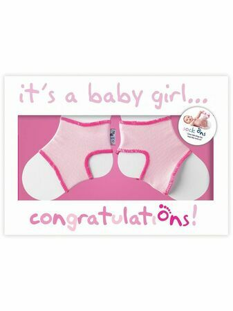It\'s a Girl! Congratulations Card with Sock Ons