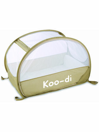 Koo-Di Pop-Up Bubble Travel Cot - Café Créme