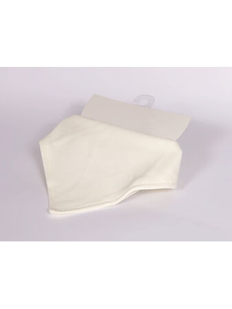 Soft Touch Super Soft Bandana Bib - Cream