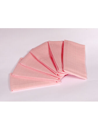 Cuddles Collection Muslin Squares 6 Pack - Pink