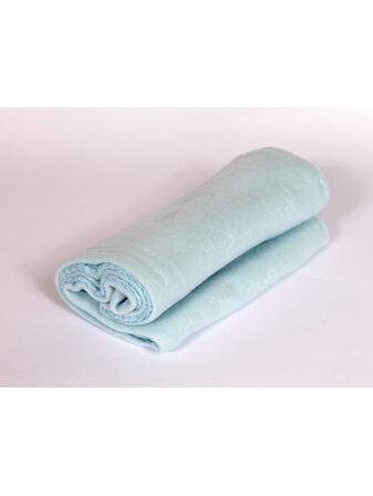 Soft Touch Embossed Baby Fleece Blanket - Blue