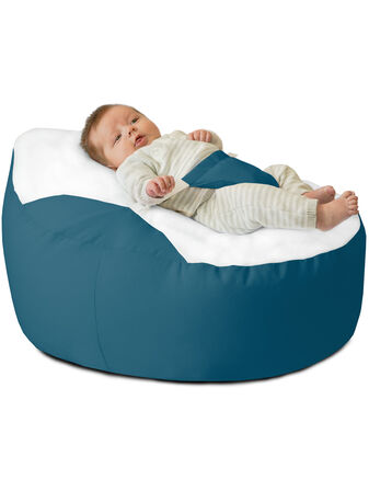 GaGa Pre-Filled Teal Luxury Cuddle Soft Baby Bean Bag With Adjustable Harness