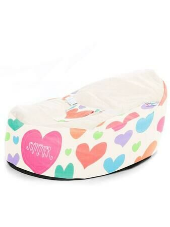 Gaga Cuddlesoft Soft Sewn Hearts Baby Bean Bag