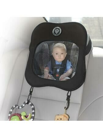 Prince Lionheart Rear Car Seat Baby View Mirror - Black