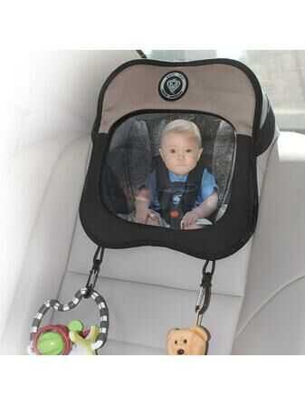 Prince Lionheart Rear Car Seat Baby View Mirror - Brown/Tan