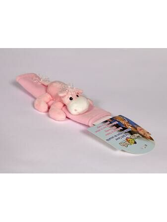 Happy Mummy Plush Seat Belt Cover - Pink Horse