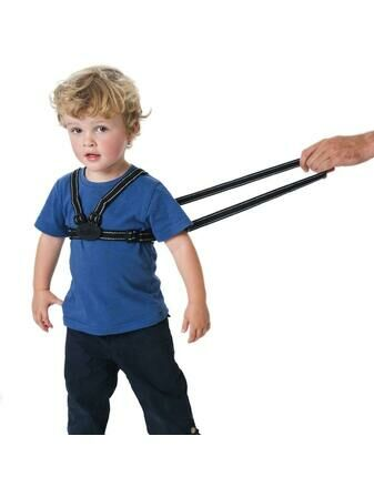 Red Kite Harness & Reins Set Reflective Black
