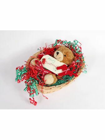New Born Baby Christmas Hamper - Bear In A Basket