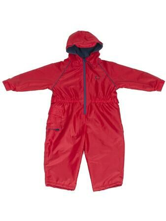 Hippychick Fleeced Lined Child\'s All in One Suit Red