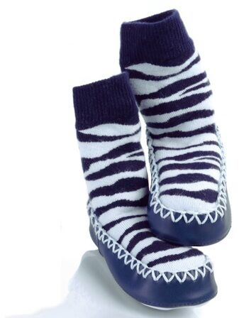 Baby/ Toddler Mocc Ons - Blue Stripe
