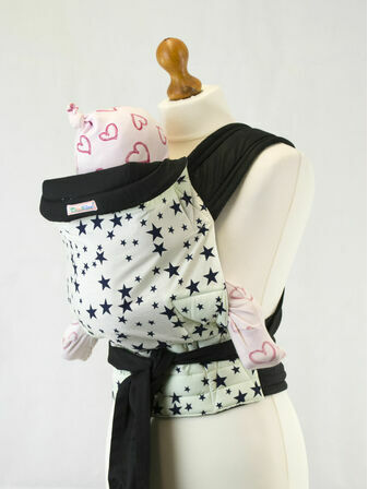 Palm & Pond Mei Tai Baby Sling - Black Star